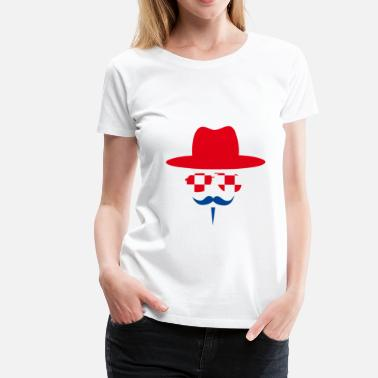 Croatia Fan with mustache - Vrouwen Premium T-shirt