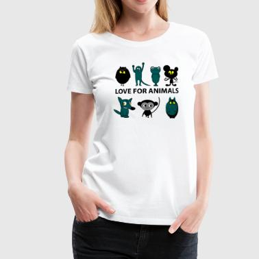 love for animals - Women's Premium T-Shirt