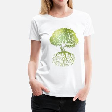 Nature Collection Roots - Premium T-skjorte for kvinner