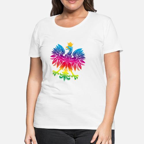 9fa9d49e55b5 Tęczowy orzeł 1 - Premium koszulka damska. Tył. Tył. Wzór. Przód. Przód