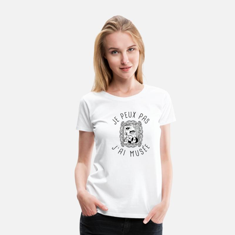 Musee T-shirts - Musée - T-shirt premium Femme blanc