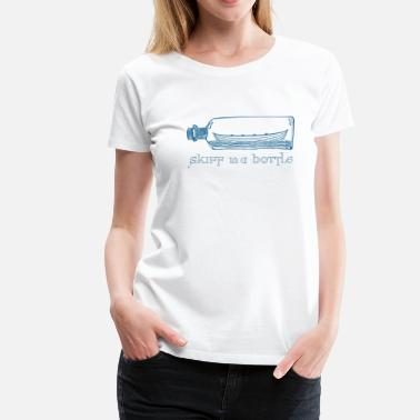 Scottish Coastal Rowing Association skiff in a bottle - Women's Premium T-Shirt