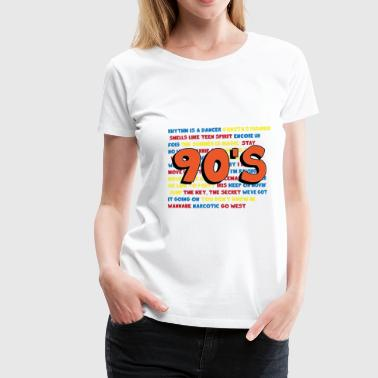 90s party - Vrouwen Premium T-shirt