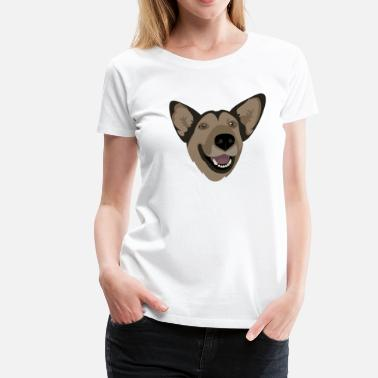 Germanen Liebe & German Shepherd - Frauen Premium T-Shirt
