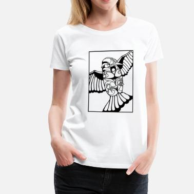 Black And White Collection Colibri black - Vrouwen Premium T-shirt