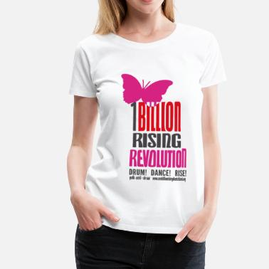 One Billion Rising Schmetterling OBR - Frauen Premium T-Shirt