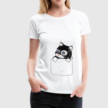 cat shirt Cute Kitten baby in pocket - Women's Premium T-Shirt