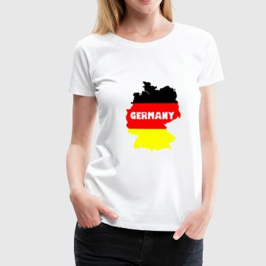 Germany transparente Schrift - Frauen Premium T-Shirt