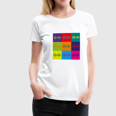 Ü-party Musik Frequenz Farbfelder f. Festival u. Party - Frauen Premium T-Shirt