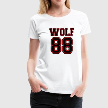 ۞»♥♫Growling Wolf 88-I Love K-Pop EXO♪♥«۞ - Women's Premium T-Shirt