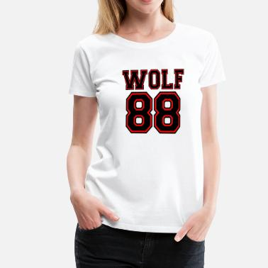 Chanyeol ۞»♥♫Growling Wolf 88-I Love K-Pop EXO♪♥«۞ - Women's Premium T-Shirt