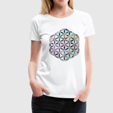 Flower of life Abalone shell on pearl - Women's Premium T-Shirt