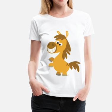 Cartoons Online Cute Rearing Cartoon Pony by Cheerful Madness!! online shop - Women's Premium T-Shirt