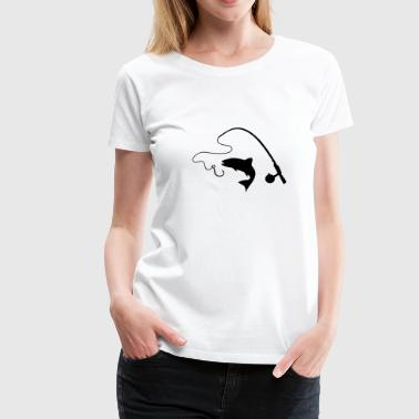 Fishing rod and fish, fishing - Women's Premium T-Shirt
