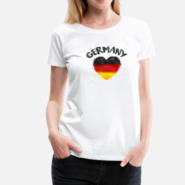 GERMANY HEART WATERCOLOR - Women's Premium T-Shirt