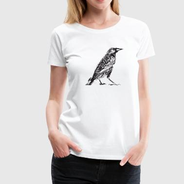 starling stencil - Women's Premium T-Shirt