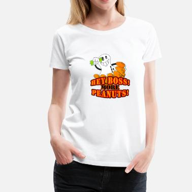 Deutsche Bank Hey boss! More peanuts! (DDP) - Women's Premium T-Shirt