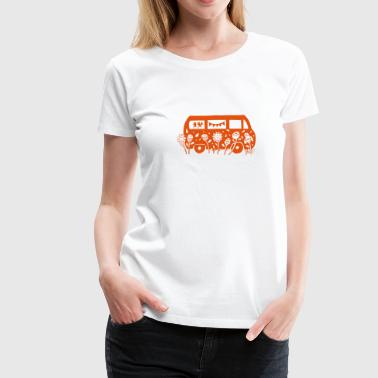 Flower Power Bus  - Frauen Premium T-Shirt
