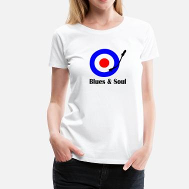 Northern Soul blues and soul - Dame premium T-shirt
