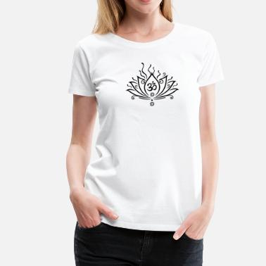 Om Lotus flower, Yoga with om symbol  - Women's Premium T-Shirt