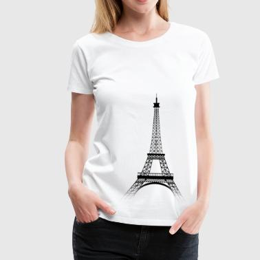 Tour Eiffel PARIS (black-transparence) - T-shirt Premium Femme