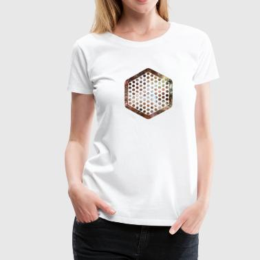 nebula hexagon - Women's Premium T-Shirt