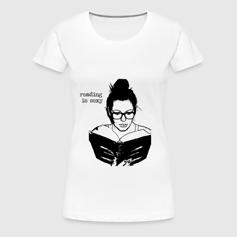 reading is sexy - Frauen Premium T-Shirt