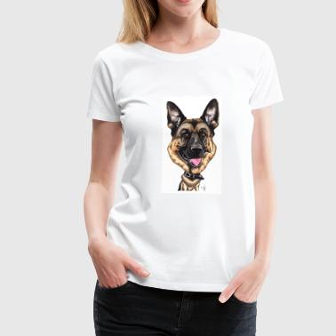 German shepherd - Premium-T-shirt dam