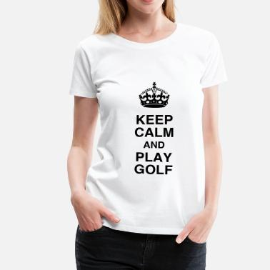 Quote Ka7w108 Fun Funny Cool Figth Fighter Force Golf - Sport - Golfer - Club - Green - Game - Play - Women's Premium T-Shirt