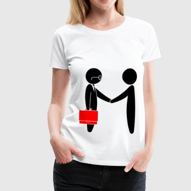 A lawyer meets a client - Women's Premium T-Shirt
