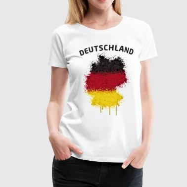 Deutschland Text Landkarte Flagge Graffiti - Frauen Premium T-Shirt