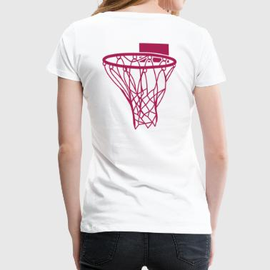 basketball netball hoop sports score - Women's Premium T-Shirt