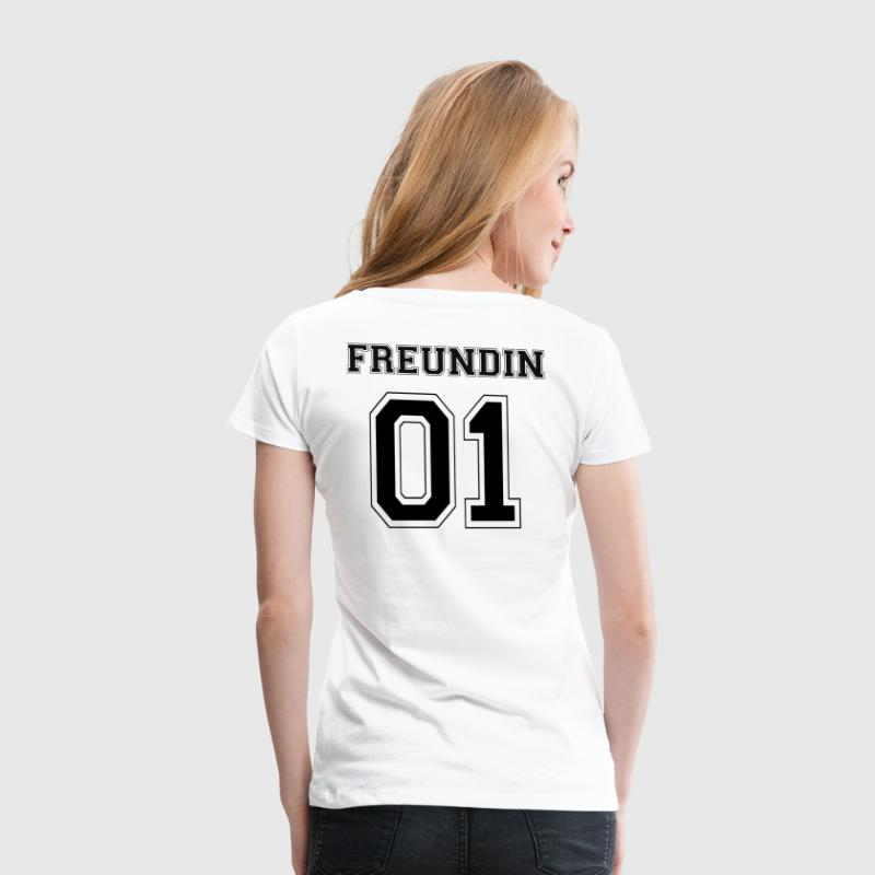 Freundin - Black Edition - Frauen Premium T-Shirt