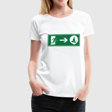 Exit sailing - Woman - Frauen Premium T-Shirt