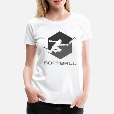 Grips Softball Sport Hobby Leisure Gift Ball Sports - Women's Premium T-Shirt