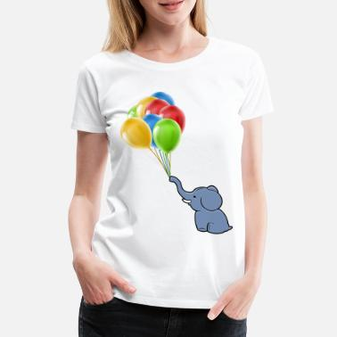Balloons Elephant with balloons - Women's Premium T-Shirt