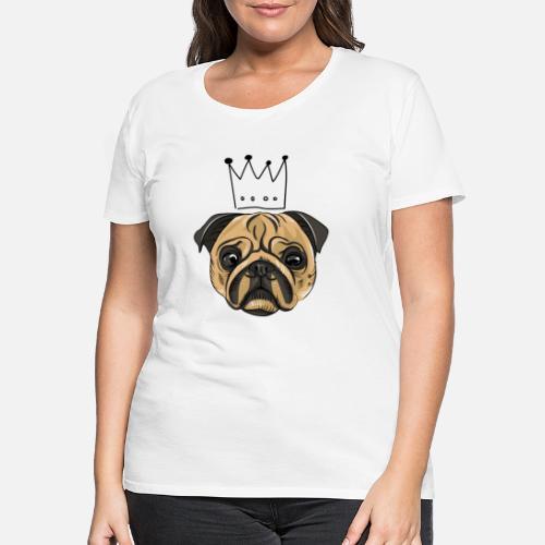909ce1d1 Pug King Queen Women's Premium T-Shirt | Spreadshirt