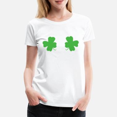 Clover St. Patrick's Day Leprechaun - Irish clover - Women's Premium T-Shirt