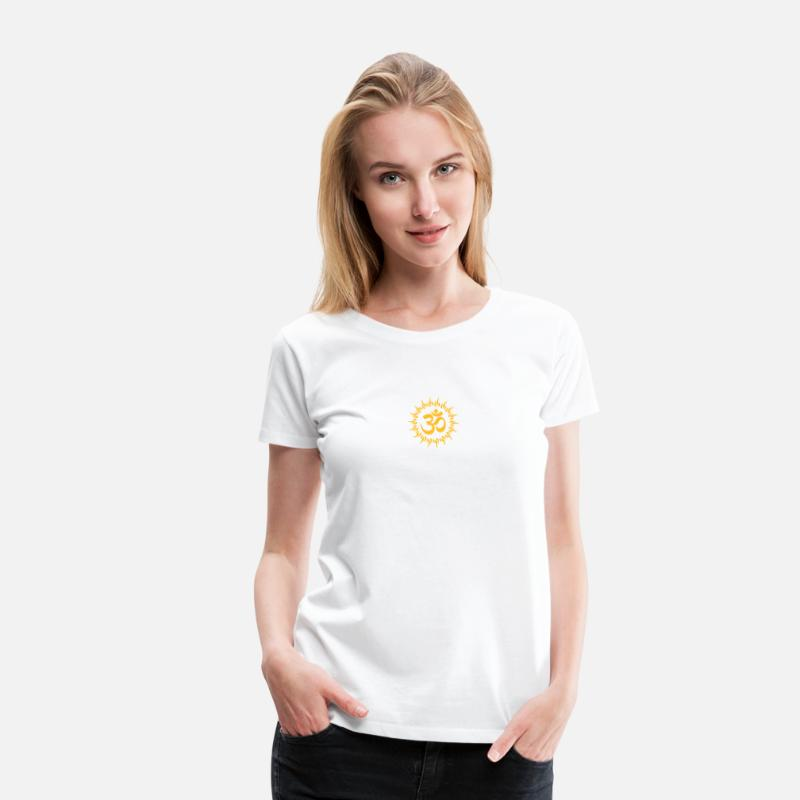 Hippie T-Shirts - om, ohm, omm, om namah shivaya, ॐ, aum - Women's Premium T-Shirt white