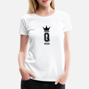 Collegestyle Queen Crown Queen Collegestyle Letter - Camiseta premium mujer
