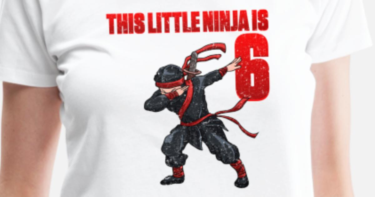 Ninja 6th Birthday 6 Years Gift Womens Premium T Shirt
