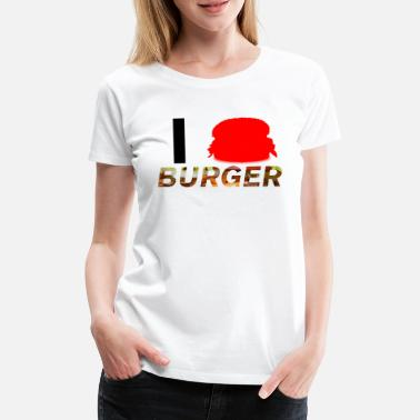 Lovestruck I Love Burger - Frauen Premium T-Shirt