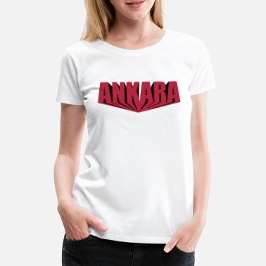 Ankara Ankara deep red - Frauen Premium T-Shirt