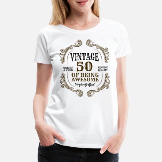 50ste Verjaardag Vintage 50 Jaar Cadeau Idee Vrouwen Premium