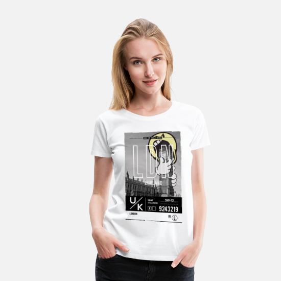 Emoji T-Shirts - SmileyWorld 'London Big Ben' - Women's Premium T-Shirt white