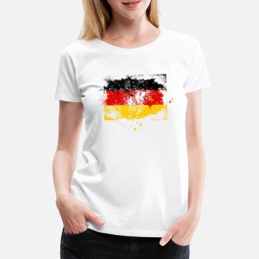 Deutschland Fußball Fan-Shirt Damen WM-Shirt Läuft