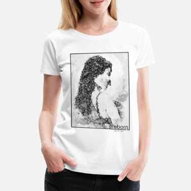 Glamourous fashion girl beauty lingerie model 2reborn - Women's Premium T-Shirt