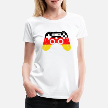 Vintage game controller gamer in Germany - Women's Premium T-Shirt
