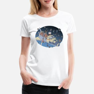 Tim Space Adventure 3 Meteore - Frauen Premium T-Shirt