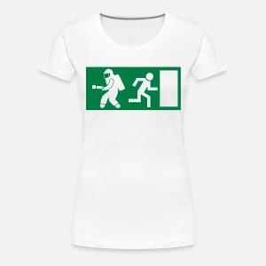 Feuerwehrmann Exit Notausgang Frauen Premium Hoodie   Spreadshirt 30b881741e